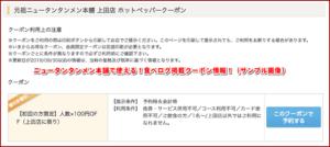 ニュータンタンメン本舗で使える!食べログ掲載クーポン情報!(サンプル画像)